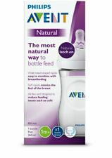 Philips Avent Natural Baby Bottle, Clear, 9oz, 1pk,...