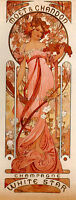 ALPHONSE MARIA MUCHA MOET CHANDON WHITE STAR ARTIST PAINTING OIL CANVAS REPRO