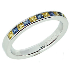 R129 Genuine 9K or 14K Gold Natural Sapphire Down-Syndrome Awareness Ring