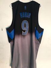 Adidas Swingman Jersey Minnesota Timberwolves Ricky Rubio Black Fadeaway sz M