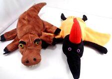 2 Dream Puppets Hand Glove Dinosaurs Trex Pteradactyl Plush Toy Teachers Aid
