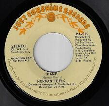 Soul 45 / NORMAN FEELS - Shame : JUST SUNSHINE Promo 45 !!