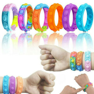 Popit Fidget Bracelet Toys Children Dimple Wristband Push Bubble Anti Stress