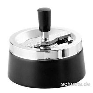 ERHARD Schleuder-Aschenbecher »Future« Schleuderascher schwarz *NEUWARE*