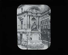 Lantern Slide Fountain Moliere Paris France c1880 Photograph