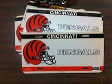 Cincinnati Bengals Plastic License Plate Tag Football