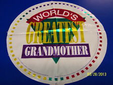 """World's Greatest Grandmother Mother's Day Party Decoration 18"""" Mylar Balloon"""