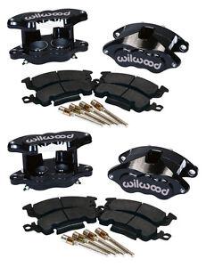 WILWOOD D52 FRONT & REAR BLACK BRAKE CALIPER,PAD SET W/PINS,1.04,BIG GM CALIPERS