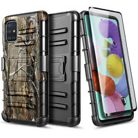 For Samsung Galaxy A71 5G Case Belt Clip Holster Phone Cover + Screen Protector