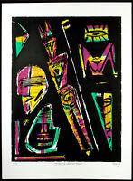 DDR-Kunst, 1986. Grosse Serigraphie von Tobias ELLMANN (*1953 D), handsigniert