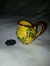 """Miniature floral pitcher doll house?  Hand painted Italy """" Ce """""""