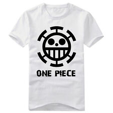 Anime One Piece Trafalgar Law Cotton T-shirt Short Sleeve Tshirt Casual Tops Tee