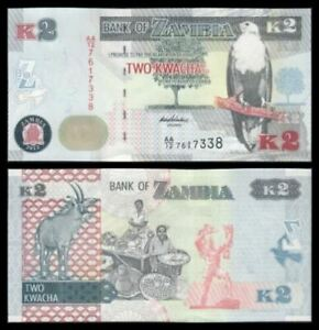 Zambia Banknote 2 Kwacha 2012 (UNC) 全新 赞比亚 2克瓦查 2012年 AA/12 7611512