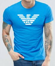 Emporio Armani Blue Mens T shirt Chest Eagle Logo - Size M, L, XL