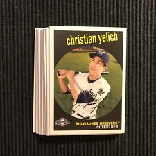 2018 TOPPS ARCHIVES MILWAUKEE BREWERS TEAM SET 8 CARDS  CHRISTIAN YELICH +