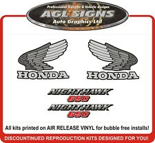 1985  HONDA 650 NIGHTHAWK  DECAL SET, reproductions  550  450 also