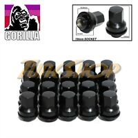 20 GORILLA JAGUAR 12x1.5 OEM OE STOCK FACTORY WHEELS RIMS MAG LUG NUTS BLACK