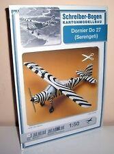 + KARTONMODELLBAU   Bastelbogen  Dornier Do 27 (Serengeti)   SCHREIBER-BOGEN 571