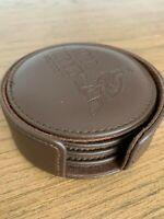 WILD TURKEY Bourbon Leather Coasters x 4 - Brand New