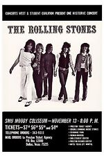 British Rock: The Rolling Stones At SMU Moody Coliseum Texas Concert Poster 1969