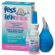 BEST PRICE! FESS LITTLE NOSES SALINE NOSE SPRAY 15ML + ASPIRATOR DISCOUNT