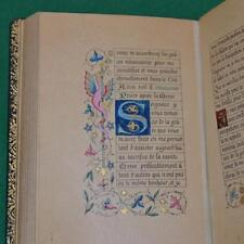 STUNNING  ILLUMINATED BOOK OF HOURS, FRENCH TEXT, FINE BINDING