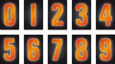 """Hi Viz Orange 7"""" Quality Vinyl Stickers Weatherproof Waterproof Adhesive"""