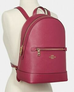 Coach C5680 Kenley Leather Backpack - Gold/Bright Violet NWT