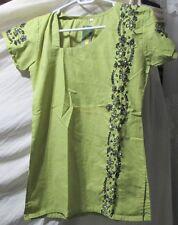 beautiful hand full sequin embroidery  cotton  top/kurta yoga tunic  size S 34