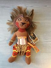 NUOVO Tag vintage Disney The Lion Simba Bambola Musicale King Bean Bag Toy