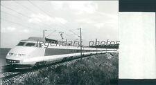 French National Railroad Modern TGV Train Original News Service Photo