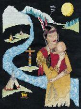 Native American Indian Cross Stitch Kit - DMC 20 x 25 cm