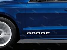 2 x Dodge Stickers for Doors RAM Charger Challenger SRT Journey Nitro White