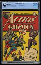 Action Comics #69 CBCS VG/FN 5.0 White Pages Prankster appearance!