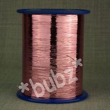 No compatible plana Lurex Brillo Metálico de Color Rosa hilado 200g Carrete Tejer Hilado