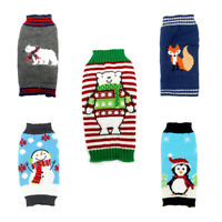Pet Puppy Dog Small Christmas Sweater Warm Winter Clothes Cute Xmas Knit Jumper