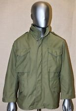 VINTAGE GENUINE US ARMY KAKI M65 1987 FIELD COLD WEATHER COMBAT JACKET SMALL SHT