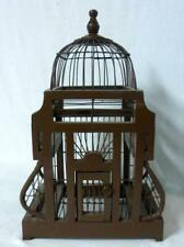 Gothic Style Wire & Wood Bird Cage