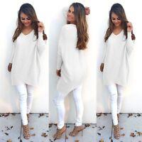 Women Long Sleeve Loose Cardigan Knitted Sweater Pullover Knitwear Outwear Coat