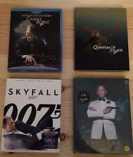 JAMES BOND 007 OOP Blu Ray W/Slipcovers And Sold Out Full Slip Kimchi Steelbook