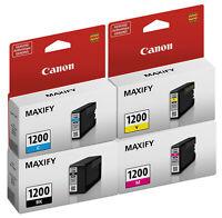 GENUINE Canon PGI-1200 Setup 4 Pack for MAXIFY MB2020 MB2120 MB2320 MB2720