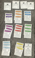 Vintage 1961 Monopoly Property Title Deed Cards Complete Set Of 28 Replacement