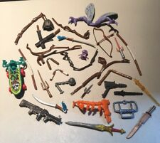 VINTAGE PLAYMATES TEENAGE MUTANT NINJA TURTLES WEAPONS & ACCESSORIES LOT C
