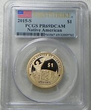 2015-S PROOF Sacagawea Native American Dollar Coin PCGS PR69DCAM - FIRST STRIKE