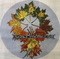 Needlepoint HandPainted Cooper Oaks AUTUMN is Spring Wreath 14x14