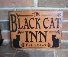 """THE BLACK CAT INN"" SIGN HANDPAINTED BITERSWEET ORANGE"