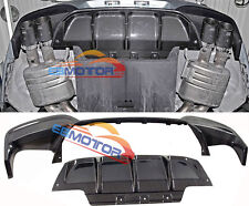 Carbon Fiber Rear Diffuser 2pcs/Set 1pair For BMW F12 F13 M6 F06 M6 b413+b182