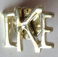 IKE Pin Badge Silver Style Vintage (D8)