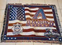 Arizona Diamondbacks World Series Champions woven tapestry blanket 2001