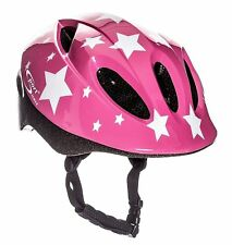 Sport Direct™ White Stars Children's Girls Bicycle Helmet Pink 48-52cm CE EN